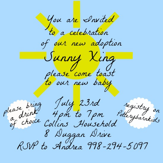baby shower invitations - Here Comes the Sun by Kayla Pisto
