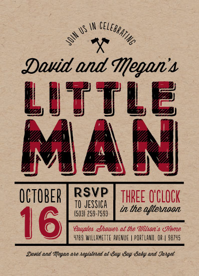 baby shower invitations - Little Man by Amy Payne