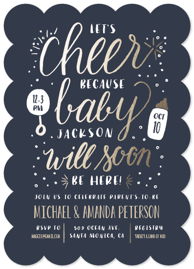 baby shower invitations - Cheer by Leah Bisch