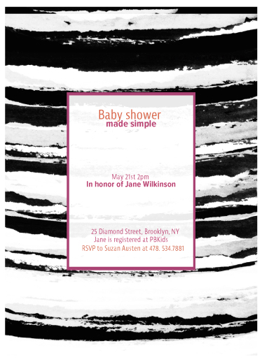 baby shower invitations - Made simple by Bethania Lima