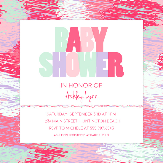 baby shower invitations - Pom by Tai Cook