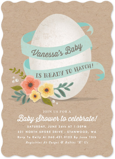 baby shower invitations - Ready to Hatch by Karidy Walker