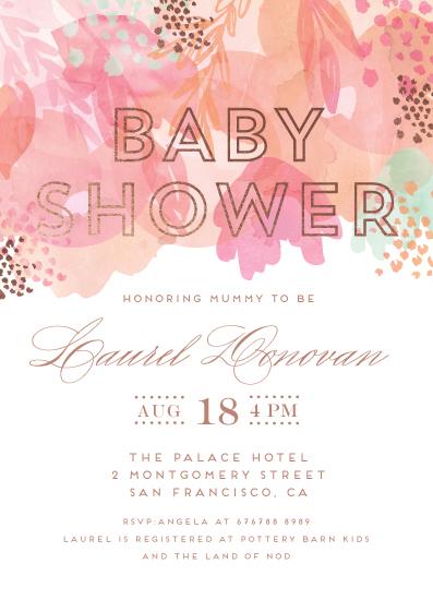 baby shower invitations - Gentle Petals by Petra Kern