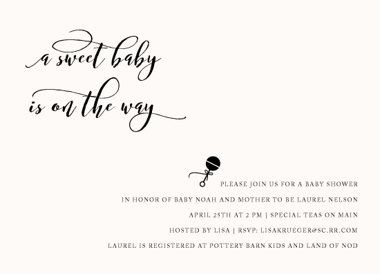 baby shower invitations - Sweet Baby by Lisa Krueger