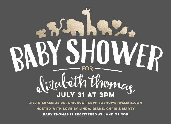 baby shower invitations - Fancy Zoo by Jessie Steury