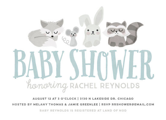 baby shower invitations - Woodland Buddies by Jessie Steury
