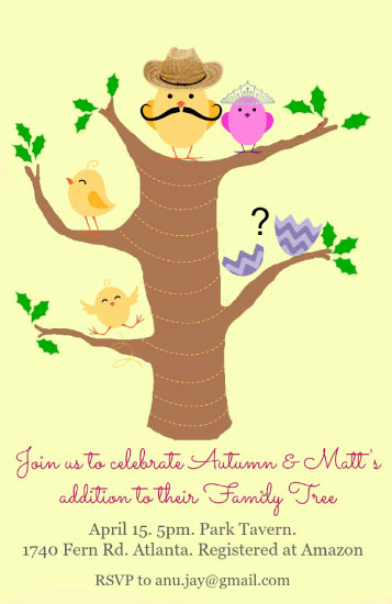 baby shower invitations - Family Tree by Anubha