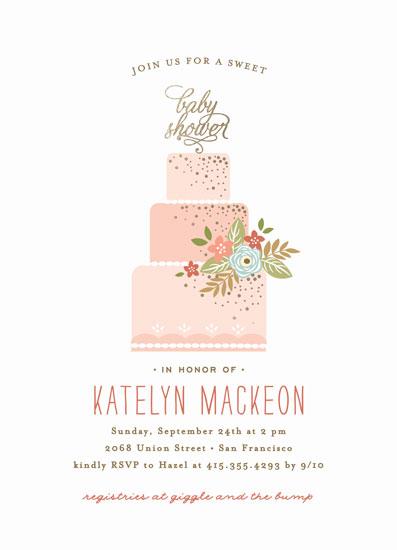 baby shower invitations - Decadence by Jennifer Postorino