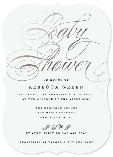 baby shower invitations - Delicate by Sarah Guse Brown
