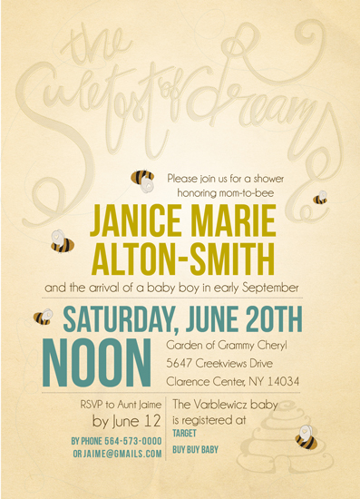 baby shower invitations - Mom to Bee by Deanna Varble