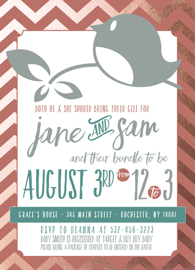 baby shower invitations - A Very Tweet Day by Deanna Varble