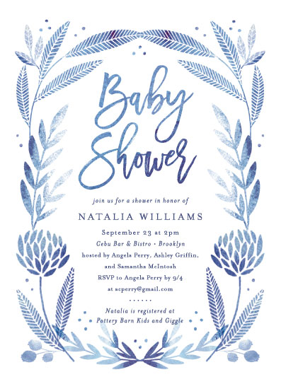 baby shower invitations - Blooming Baby by Olivia Raufman