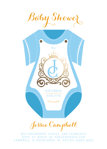 baby shower invitations - carriage of dream by Reynan Racaza