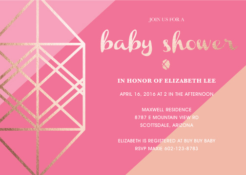 baby shower invitations - Shine by Rhiannon Davenport