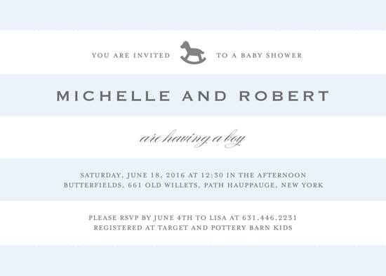 baby shower invitations - Elegant Stripes by Gray Star Design