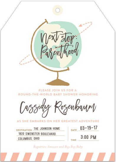baby shower invitations - Round The World by Shari Margolin