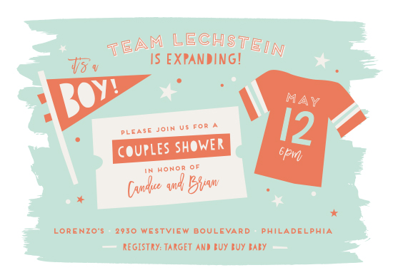 baby shower invitations - Good Sport by Shari Margolin