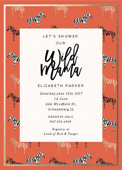 baby shower invitations - Maasai Mara by Nazia Hyder