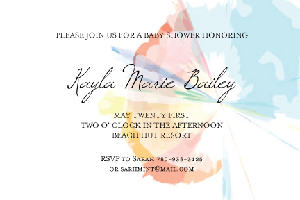 baby shower invitations - Paint Brush Shower by Andriana