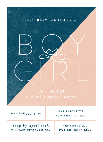 baby shower invitations - Cool Little Reveal by Ashley Hegarty