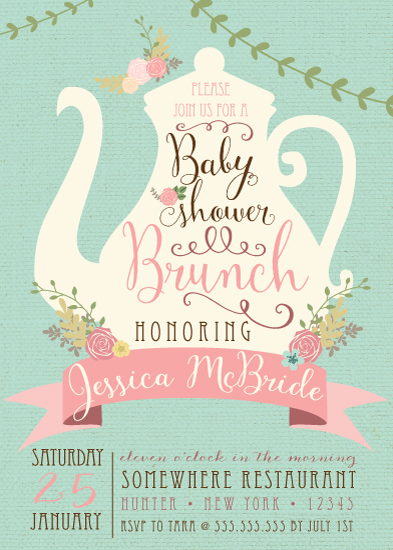 baby shower invitations - Baby Shower Tea Party Brunch by Tara Sturm