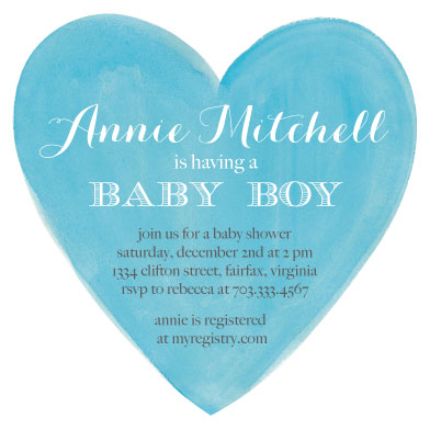 baby shower invitations - new love by Pippi and Penelope