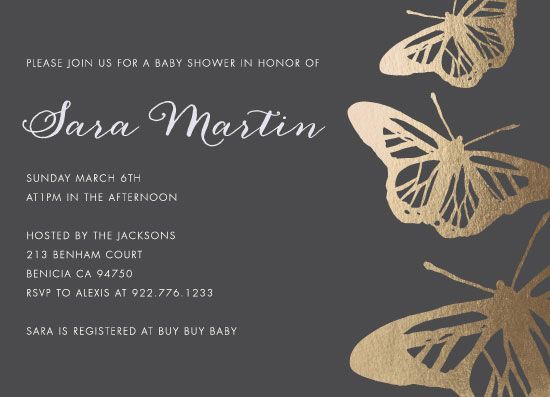 baby shower invitations - Fluttery Feeling by Cassandra Imagines