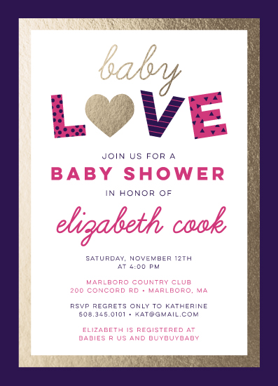 baby shower invitations - Bold Baby Love by sparky