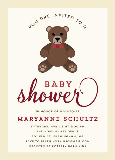baby shower invitations - Teddy Bear Love by sparky