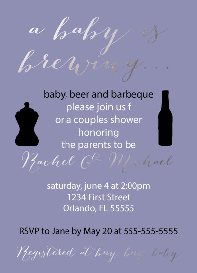 baby shower invitations - Baby, Beer & Barbeque by Icon Invitations
