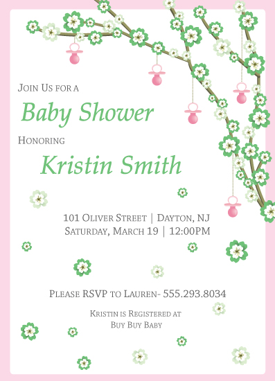 baby shower invitations - Floral Carousel by Maria Pormilli