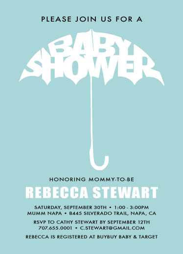 baby shower invitations - Baby shower Umbrella by Nicholas Leija