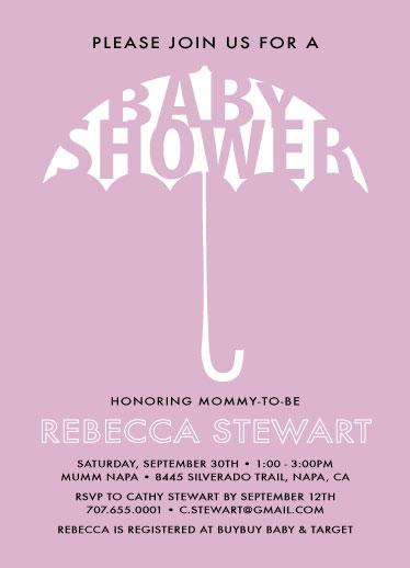 baby shower invitations - Umbrella Baby shower by Nicholas Leija