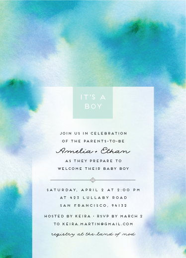 baby shower invitations - Artful Shower by Maria Hilas Louie