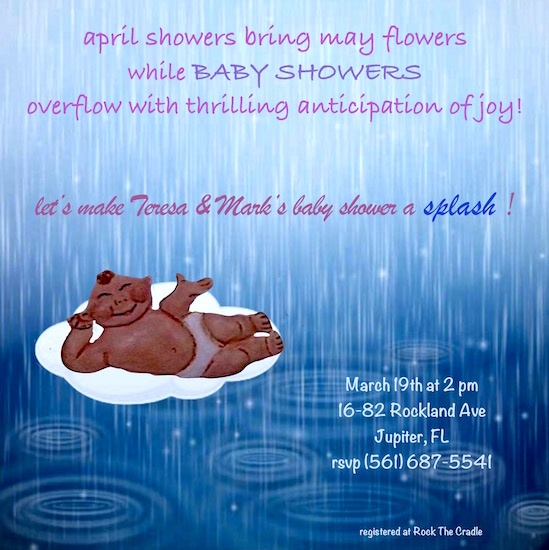 baby shower invitations - raindrops of love by Missy Kaolin