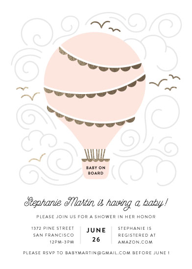 baby shower invitations - Liftoff! by Pine and Lark