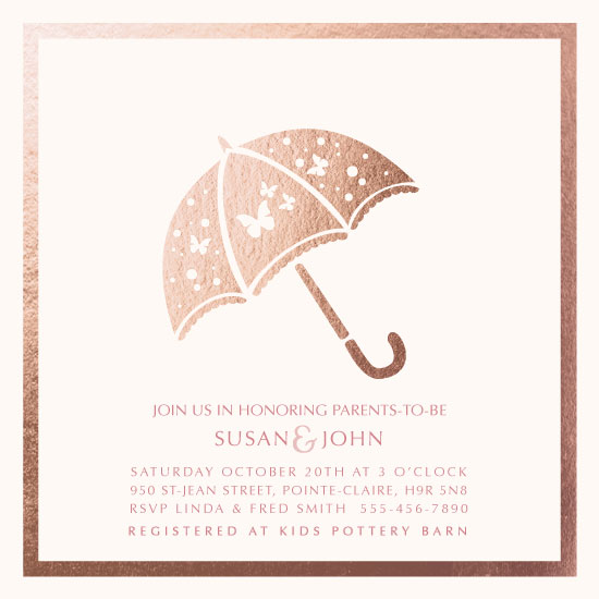 baby shower invitations - Butterfly Umbrella by Agi Szabo