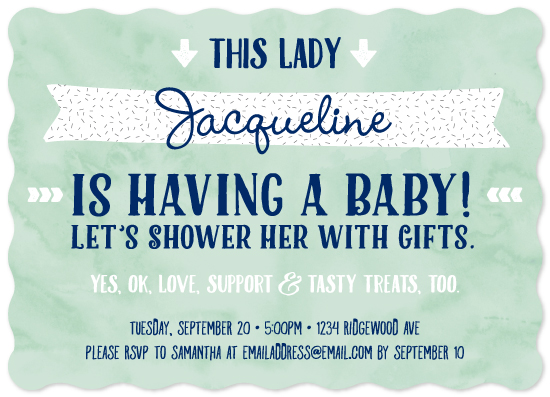 baby shower invitations - This Lady by Studio Guerassio
