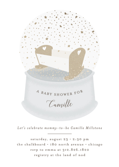 baby shower invitations - Snow Globe by Lehan Veenker