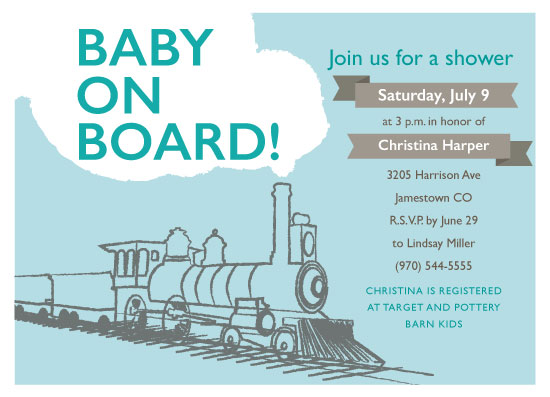 baby shower invitations - This Train is Coming by Crystal Schiller
