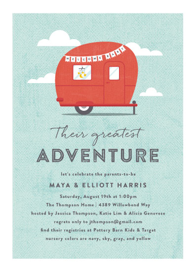 baby shower invitations - Cute Camper by Olivia Raufman