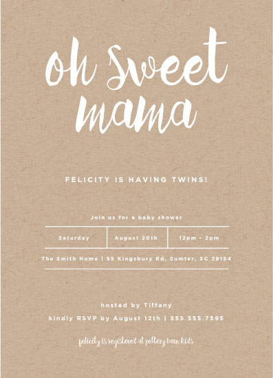 baby shower invitations - Oh Sweet Mama by Lisa Krueger