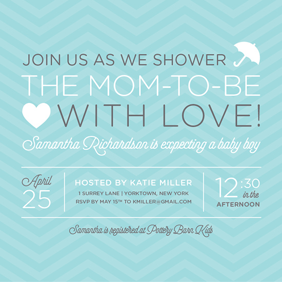 baby shower invitations - Shower the Mom-To-Be with Love! by Kristen Sangregorio