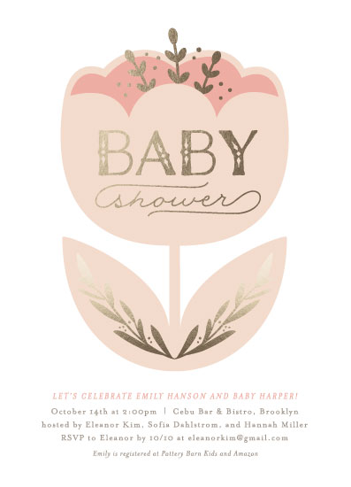 baby shower invitations - Shimmering Tulip by Olivia Raufman