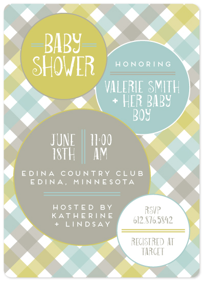 baby shower invitations - Baby Plaid by Gretchen Berry