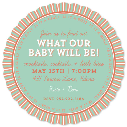 baby shower invitations - Baby Be by Gretchen Berry