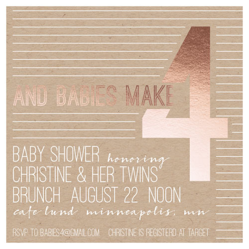 baby shower invitations - and Babies4 by Gretchen Berry