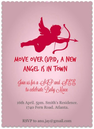 baby shower invitations - Move Over Cupid by Anubha