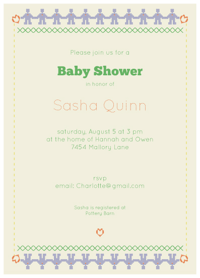baby shower invitations - Robot Love Army by carmengolden