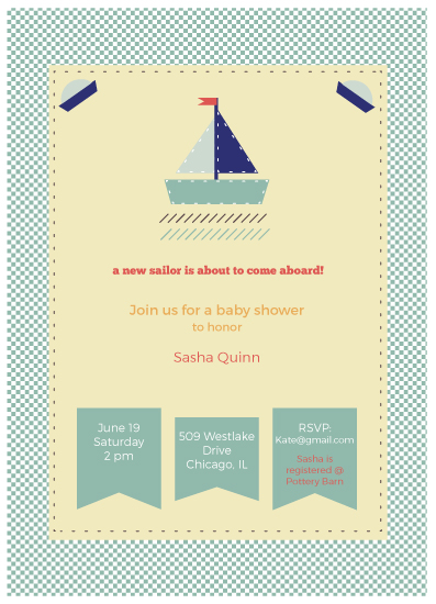 baby shower invitations - Hey there sailor! by carmengolden